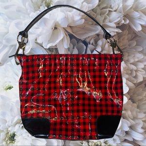 Kristine Checkered Shoulder Bag